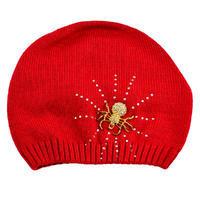 Pletená vlnená čiapka - červená