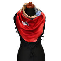 Veľká bavlněná šátka - červeno-čierna