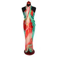 Pareo dámske - zelenočervené