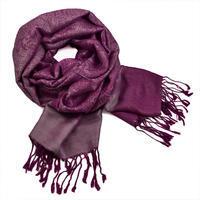 Šál kašmírový - fialový