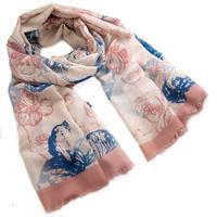 Šál klasický - ružovomodrý