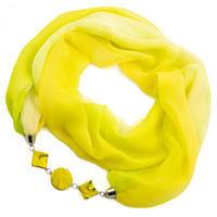 Šál s bižutériou Extravagant - žltý