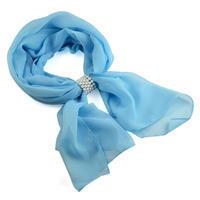 Šál so sponkou Melodie 299mel001- 31 - bledě modrý