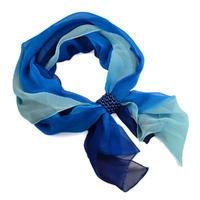 Šál so sponkou Melodie 299mel002-30.31 - modrý
