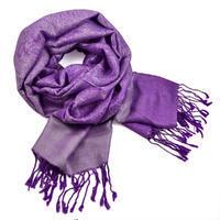 Šál teplý 69cz001-35 - fialový
