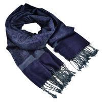 Šál teplý - tmavo modrý