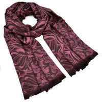 Šál teplý - ružovohnedý