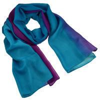 Šál klasický - modrofialové ombre