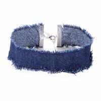 Náhrdelník choker 34ac001-30a - modrý