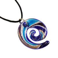 Sklenený prívesok Murano mur30.31 - modrá špirála