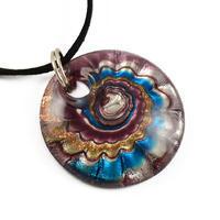 Sklenený prívesok Murano mur33.31 - fialovomodrý