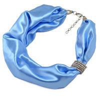 Šatka-náhrdelník - modrá