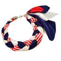 Šatka-náhrdelník Florina - modročervený