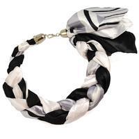 Šatka-náhrdelník Florina - čiernobiely