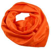 Šatka saténová malá 63sk001-11 - oranžová