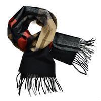 Šál teplý - čiernohnedý