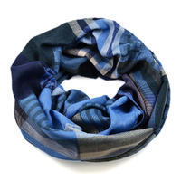 Zimný tunelový šál - modrý