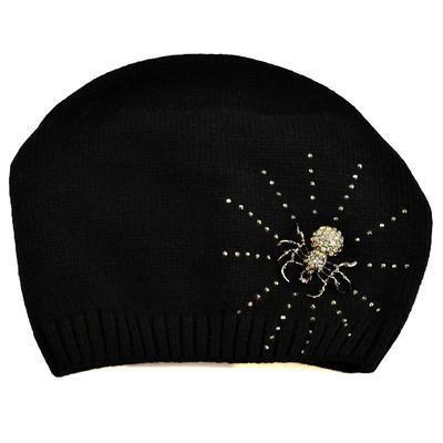 Pletená vlnená čiapka - čierna