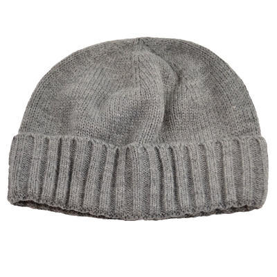 Pletená panská čiapka - sivá