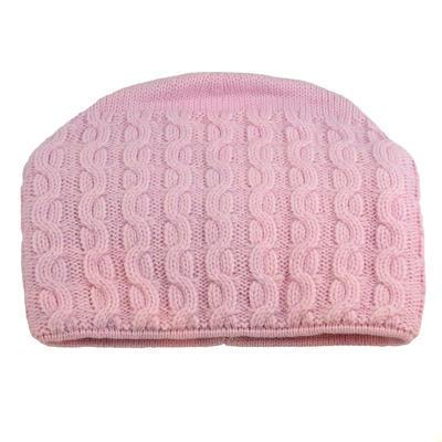 Pletená dámska čiapka - ružová