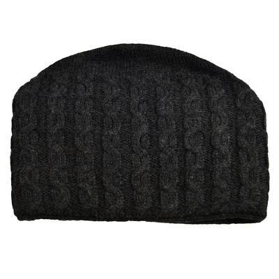 Pletená dámska čiapka - sivá