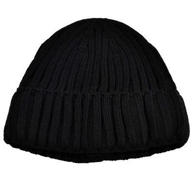 Pletená panská čiapka - čierna