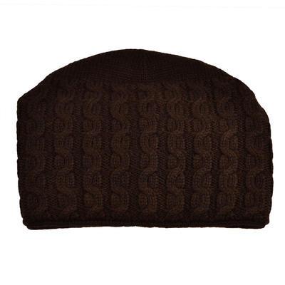 Pletená dámska čiapka - hnedá