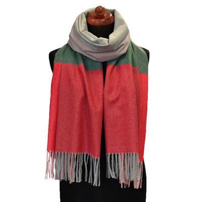 Maxi šál - červeno-zelený