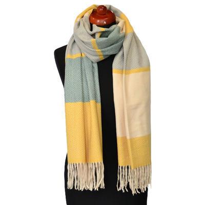 Maxi šál - zlatozelený