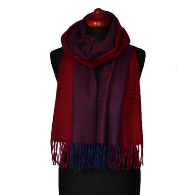 Maxi šál - červeno-modrý