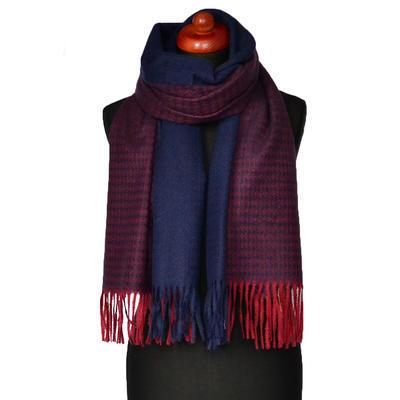 Maxi šál - modro-červený