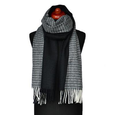 Maxi šál - čierno-biely