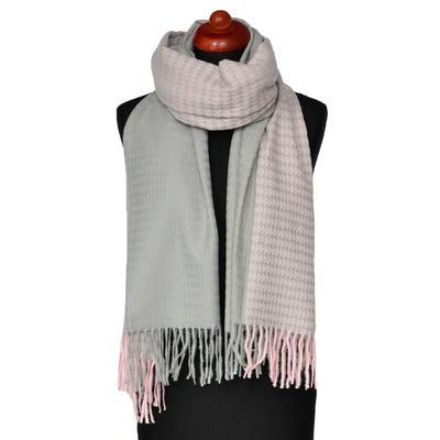 Maxi šál - ružovo-sivý
