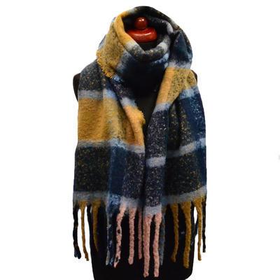 Maxi šál - modro-hnedý - 1