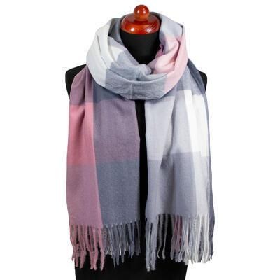 Maxi šál - sivo-ružový - 1