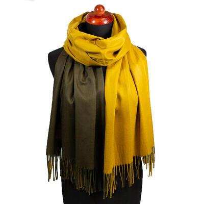 Maxi obojstranný šál - zlato-hnedý - 1