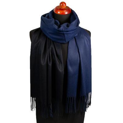 Maxi obojstranný šál - modro-čierny - 1