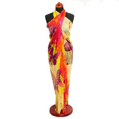 Pareo dámske - žlto-červené