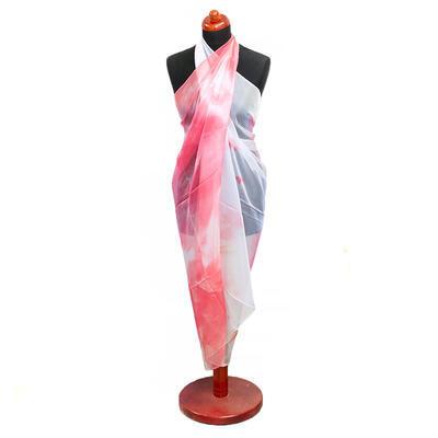 Pareo dámske - červeno-biele