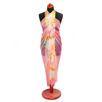 Pareo dámske - ružovo-žlté