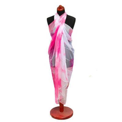Pareo dámske - ružovo-biele