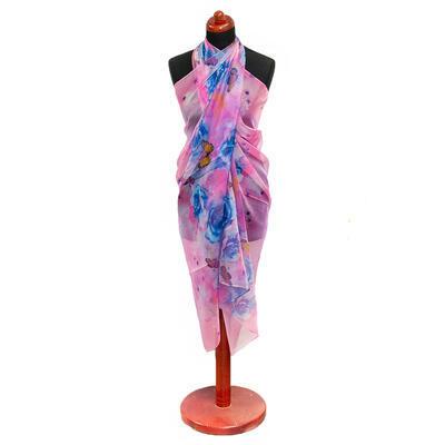 Pareo dámske - ružovo-modré