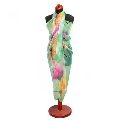 Pareo dámske - zeleno-ružové