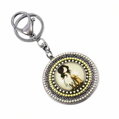 Kľúčenka - prívesok na kabelku prs229-10 - žltá dievčatko