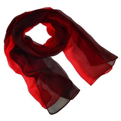 Šál klasický - červené ombre