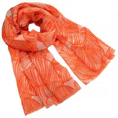 Šál klasický - oranžový - 1