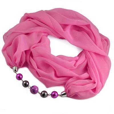 Šál s bižutériou Extravagant 396ext001-27 - ružový - 1