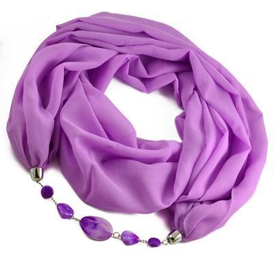 Šál s bižutériou Extravagant 396ext001-35 - fialový - 1