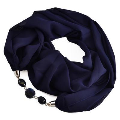 Šál s bižutériou Extravagant 396ext001-36 -  modrý - 1