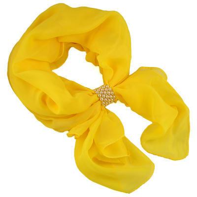 Šál so sponkou Melodie - žltý - 1